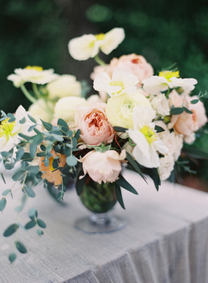 Peach and Yellow Wedding Flowers