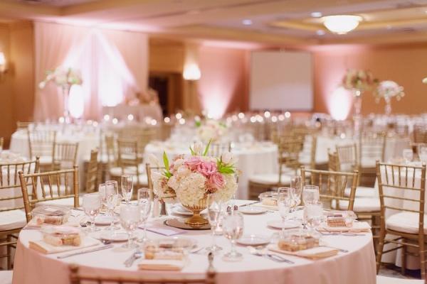 pink and gold wedding reception elizabeth anne designs