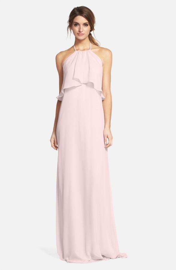 Nouvelle amsale chiffon halter gown elizabeth anne for Nouvelle amsale wedding dress