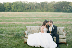 Pretty Backyard Michigan Wedding