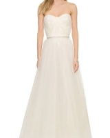 Reem Acra Virtue Strapless Gown