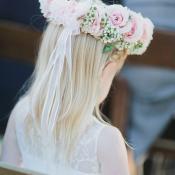 Rose Wreath for Flower Girl