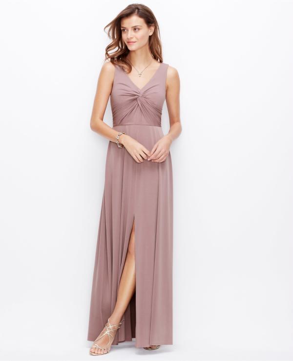 Satin Jersey Twist Gown