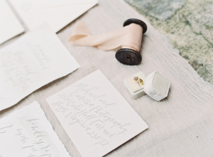 Stationery with Gray Calligraphy
