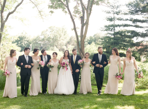 Taupe and Black Wedding Party