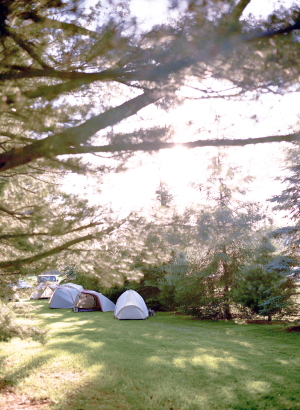 Tents Set up for Wedding Guests