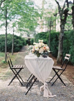 Tied Wedding Table Linen