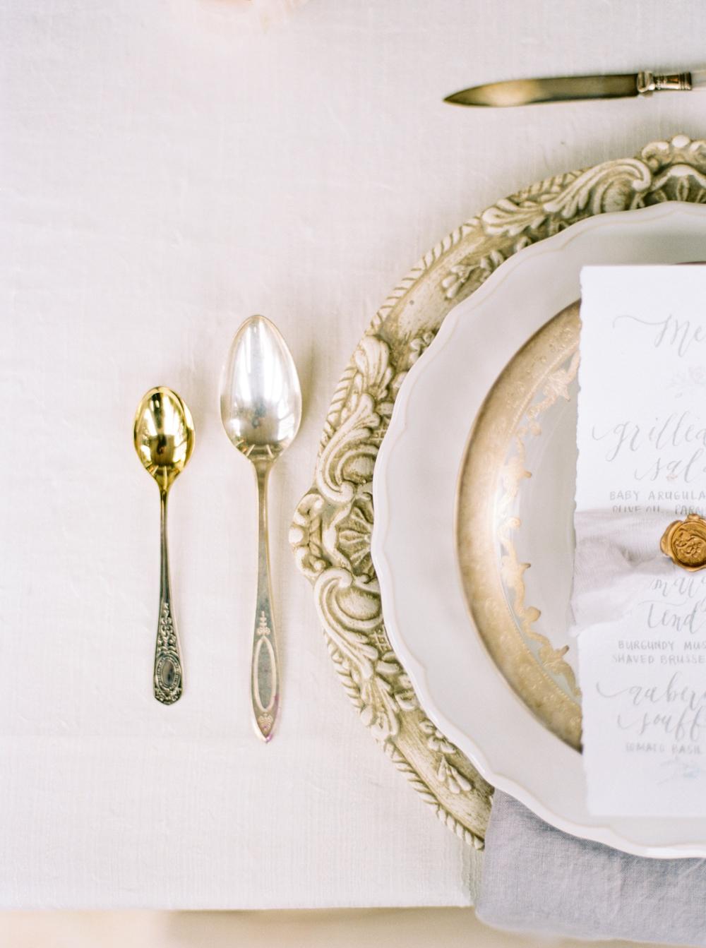 Vintage Gold Flatware Elizabeth Anne Designs The