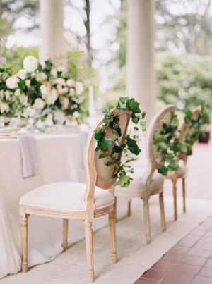 Wedding Chairs with Ivy