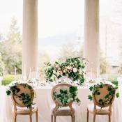 Wedding Table with Greenery
