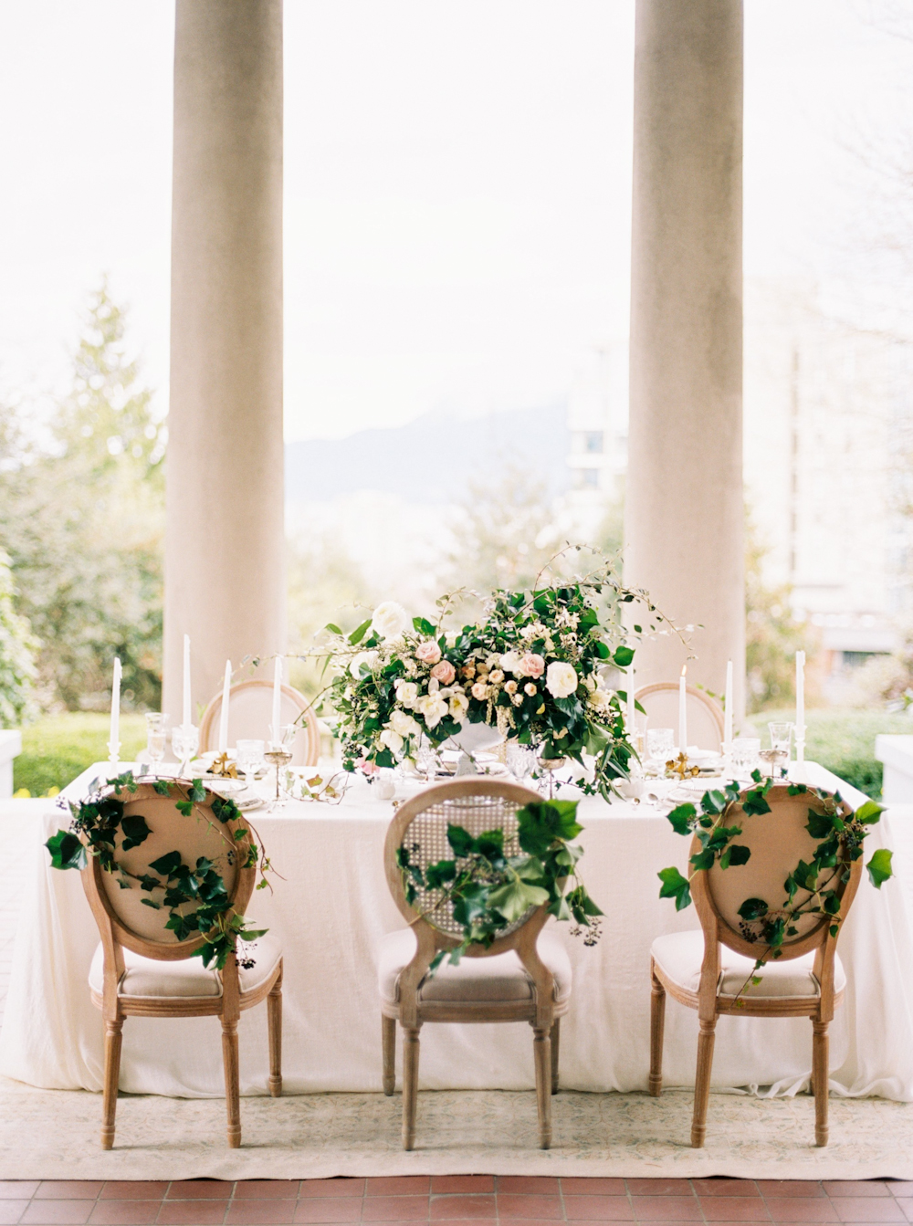 Wedding Table with Greenery