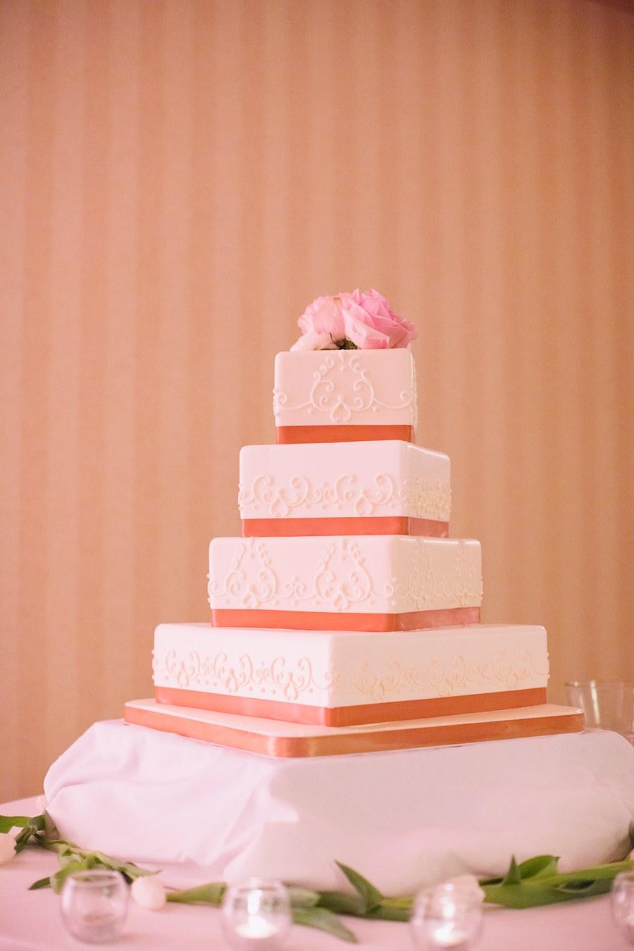 White Wedding Cake with Gold - Elizabeth Anne Designs: The Wedding Blog