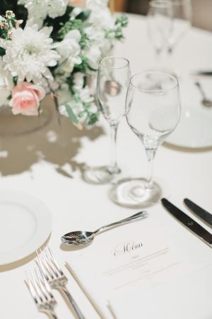 White and Blush Wedding Reception