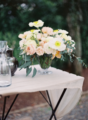 Yellow and Apricot Wedding Flowers