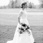 Black and White Bridal Portrait1