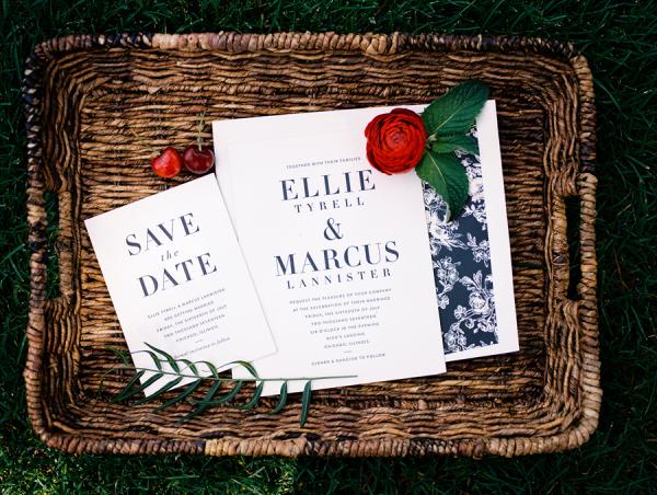 Black and White Graphic Wedding Invitations