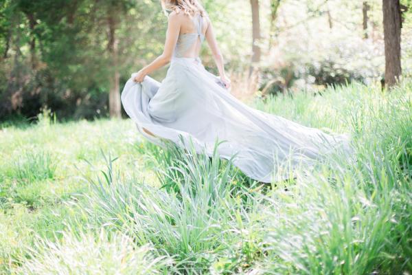 Blue Engagement Dress - Sally Pinera