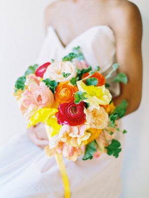 Bouquet in Shades of Pink and Yellow