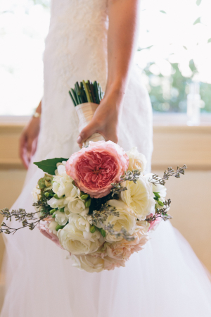 Bouquet with Pink and Ivory Flowers
