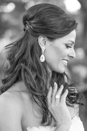 Bride in Chandelier Earrings