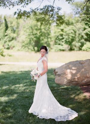 Bride in David's Bridal