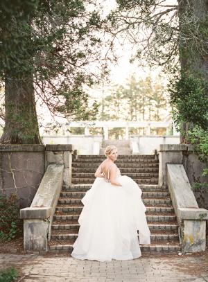 Bride in Hayley Paige Wedding Dress