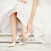 Bride in Manolo Blahnik Swan