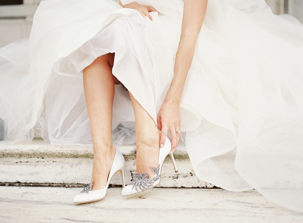 Bride in Manolo Blahnik Swan