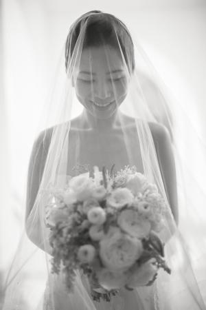 Bride in Sheer Veil