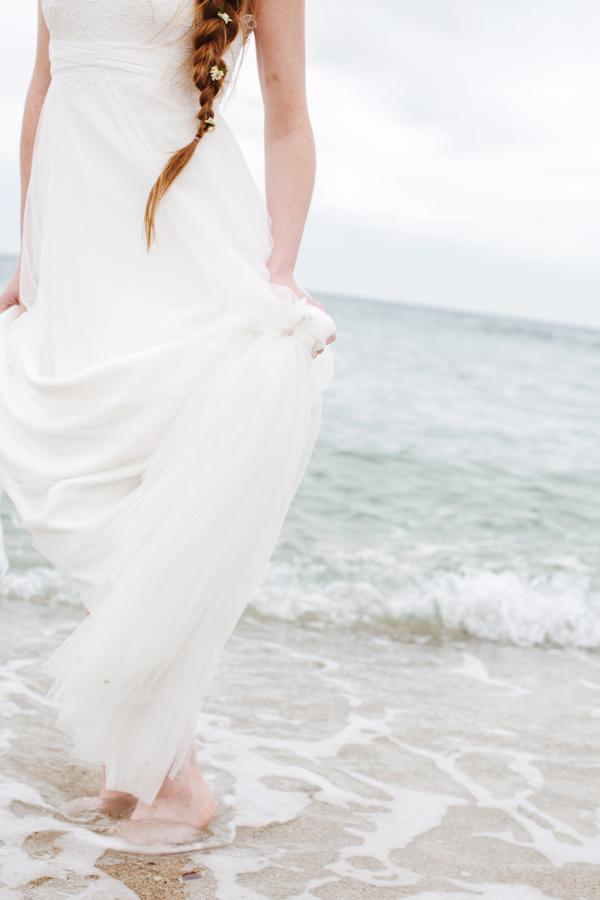 Bride on Beach