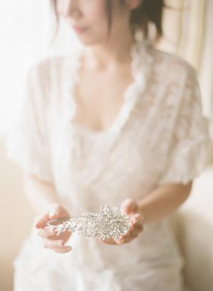Bride with Crystal Headpiece