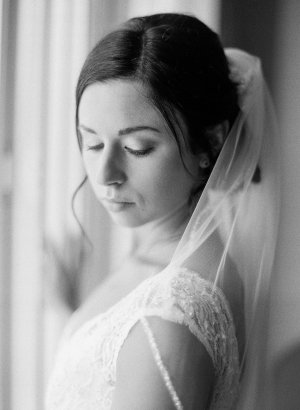 Bride with Pretty Updo and Veil