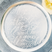 Calligraphy on Tray