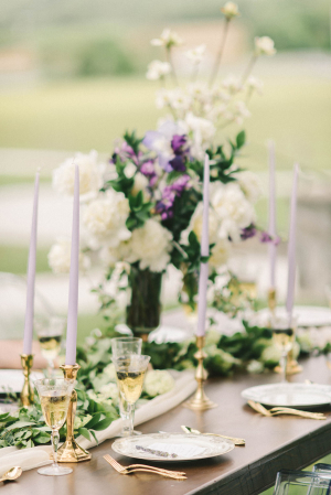 Centerpiece with Taper Candles