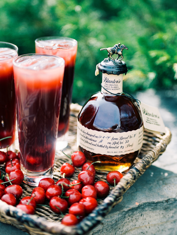 Cherry and Bourbon Cocktail