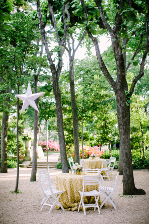 Cocktail Tables Under Trees