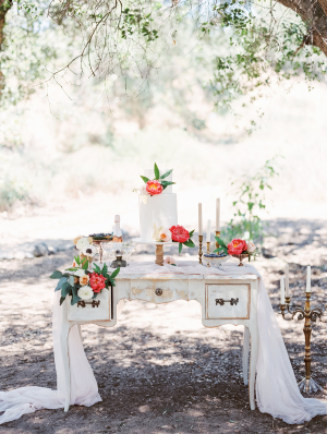 Dessert Table with Peonies