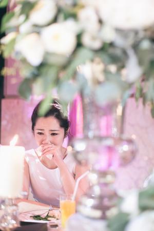 Emotional Bride at Reception