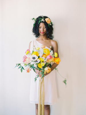 Gold Ribbon on Bouquet