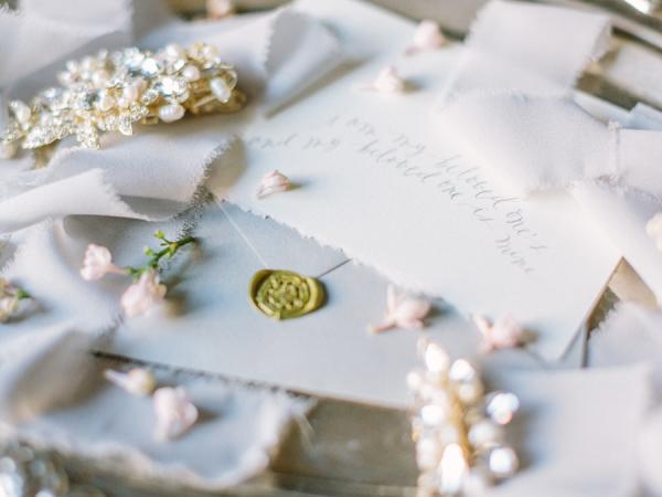 Gold Wax Seal on Invitations