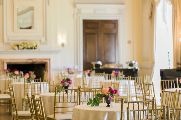 Gold Yellow and Peach Reception