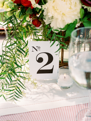 Graphic Table Number