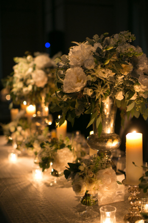 Green and ivory Centerpieces