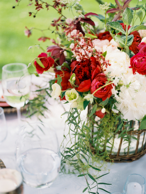 Ivory and Red Wedding Flowers
