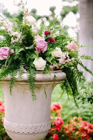 Lavender Flowers in Urn