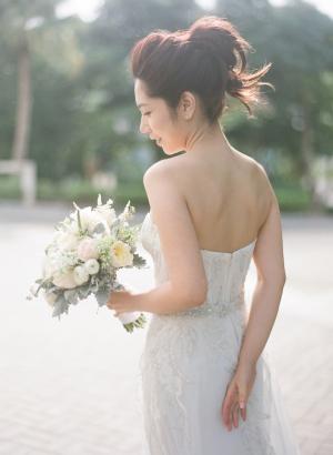 Monique Lhuillier Strapless Gown