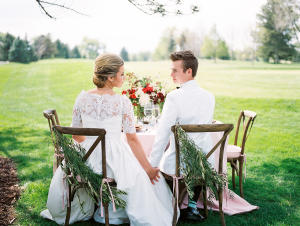 Outdoor Wedding Inspiration in Pink and Red