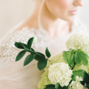 Pale Green Hydrangea Bouquet