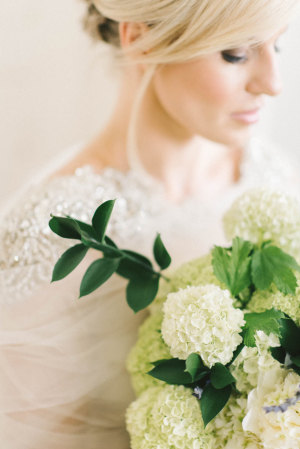Pale Green Hydrangea Bouquet