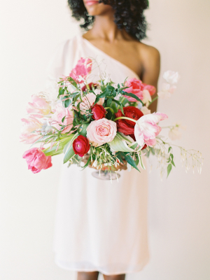 Pink and Red Centerpiece